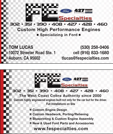 FE Specialties - Business Card