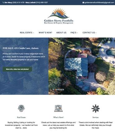 Golden Sierra Foothills Real Estate
